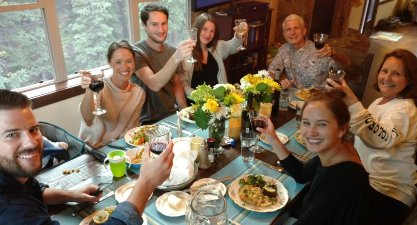 Family enjoys private chef dinner